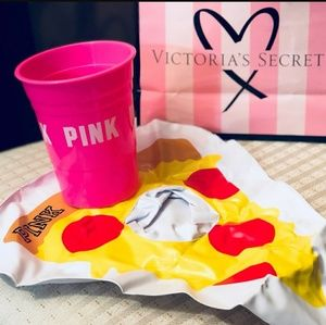 Pink cup and Pizza Float
